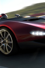 2013 Pininfarina Sergio concept car in high-speed