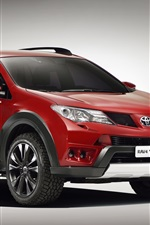 Preview iPhone wallpaper 2013 Toyota RAV4 Adventure, red color car