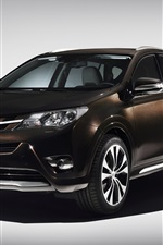 Preview iPhone wallpaper 2013 Toyota RAV4 Premium, brown color car