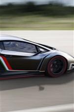 미리보기 iPhone 배경 화면 2013 supercar 람보르기니 Veneno 고속에서 실행