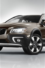 Preview iPhone wallpaper 2014 Volvo XC70 SUV brown color