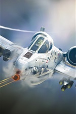 미리보기 iPhone 배경 화면 A-10 Tankbuster, 공격 항공기, 비행기, 예술 디자인