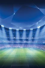 Preview iPhone wallpaper Champions League, Stadium, Football, Sports game