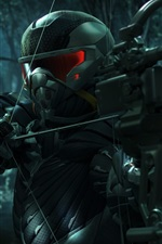 Preview iPhone wallpaper Crysis 3, hunter in the forest