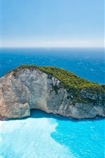 Preview iPhone wallpaper Greece Ionian Islands, sea, summer, sky, sunlight, beautiful scenery