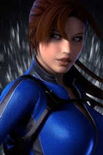 Preview iPhone wallpaper Lara Croft, Tomb Raider, blue clothes