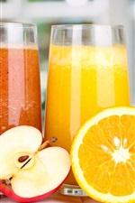 Nahrhafte Saft, Äpfel, Orangen
