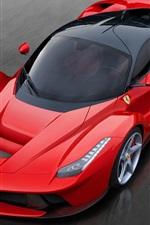 Preview iPhone wallpaper Red Ferrari LaFerrari 2013 luxury car
