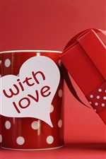 Preview iPhone wallpaper Romantic Valentine's Day gifts, mugs, red style