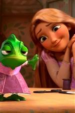 Vorschau des iPhone Hintergrundbilder Tangled, Rapunzel mit Frosch