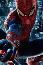Preview iPhone wallpaper The Amazing Spider-Man, night city
