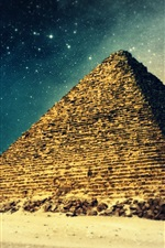 Preview iPhone wallpaper Ancient dreams, Artistic building, Pyramid