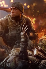Preview iPhone wallpaper Battlefield 4, Soldiers injured
