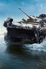 Preview iPhone wallpaper Battlefield 4, armored vehicles ashore