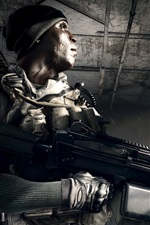 Preview iPhone wallpaper Battlefield 4, soldiers in the room