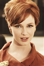 Preview iPhone wallpaper Christina Hendricks 01