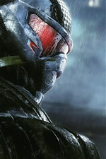 Preview iPhone wallpaper Crysis 3, Hunter close-up