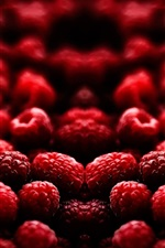 Preview iPhone wallpaper Delicious fruits, red raspberry