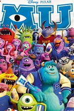 Preview iPhone wallpaper Disney movie, Monsters University