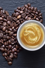 Preview iPhone wallpaper Food of drink, coffee and coffee beans