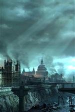 미리보기 iPhone 배경 화면 Hellgate : 런던, 런던의 전쟁