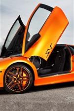 Lamborghini Murcielago LP670-SV orange supercar
