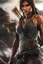 Preview iPhone wallpaper Lara Croft in Tomb Raider game