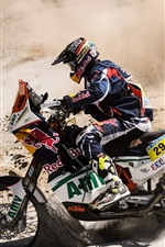 Preview iPhone wallpaper The passion of the cross-country motorcycle race