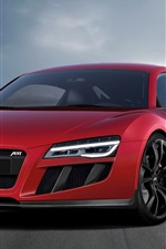 Preview iPhone wallpaper 2013 Abt Audi R8 V10 red supercar