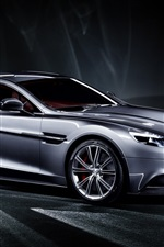 Preview iPhone wallpaper 2013 Aston Martin Vanquish silver car