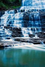 Preview iPhone wallpaper Albion Falls, Hamilton, Ontario, waterfalls, lake