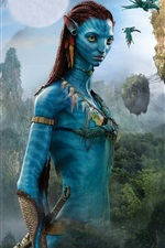 Preview iPhone wallpaper Avatar, blue skin, James Cameron's movie