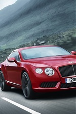 Bentley Continental GT V8 red color