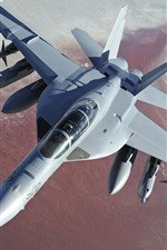 Preview iPhone wallpaper Boeing EA-18G Growler fighter