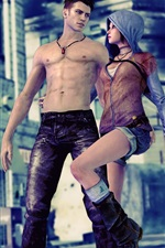 Preview iPhone wallpaper DmC, Devil May Cry 5, boy with girl