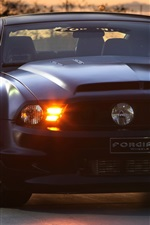 Preview iPhone wallpaper Ford Mustang GT Forgiato black