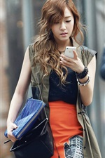 Preview iPhone wallpaper Girls Generation, Jessica, use phone