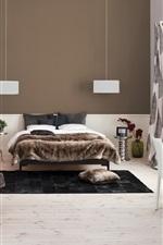 Preview iPhone wallpaper Interior design, cozy bedroom