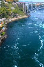 Japão, costa, baía, ponte, ilha
