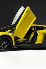 Preview iPhone wallpaper Lamborghini Aventador LP720-4 side view