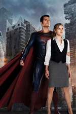 Preview iPhone wallpaper Man of Steel, Superman with his girlfriend