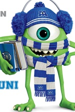Preview iPhone wallpaper Monsters University, Strange one-eyed Mike