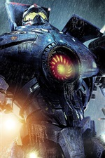 Preview iPhone wallpaper Pacific Rim, robot warrior