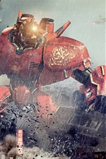 Preview iPhone wallpaper Pacific Rim, robots clash