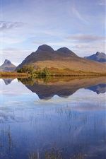 Preview iPhone wallpaper Scotland, nature landscape, lake, mountains