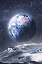 Preview iPhone wallpaper View Earth from the space planet