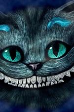 Alice no País das Maravilhas, sorrindo Cheshire Cat