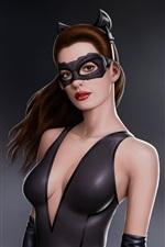 iPhone обои Энн Хэтэуэй в фильме Бэтмен, как Женщина-кошка