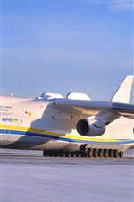 Preview iPhone wallpaper Antonov An-225 Mriya aircraft at the airport