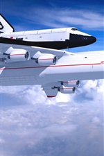 Preview iPhone wallpaper Antonov An-225 Mriya aircraft, blue sky